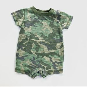 Camouflage one piece baby romper